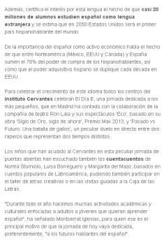 Instituto Cervantes. Día E